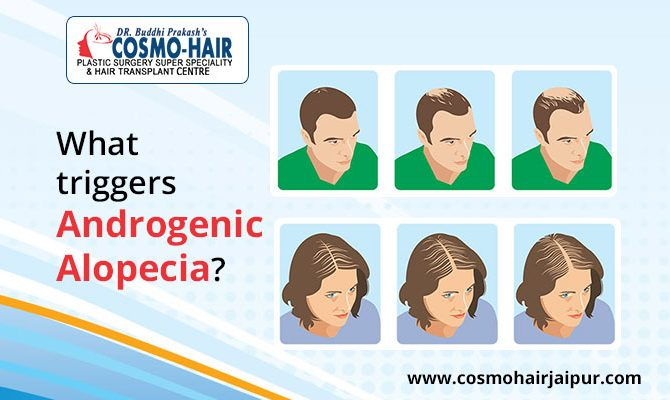 What triggers androgenic alopecia?